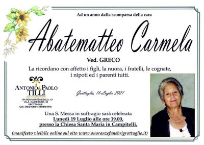 Abatematteo Carmela Ann.