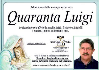 Quaranta Luigi Anniversario