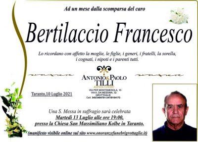 Trigesimo Bertilaccio Francesco